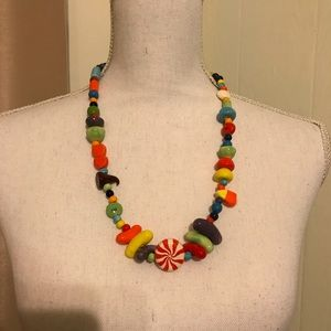 Parrot candy theme ceramic necklace
